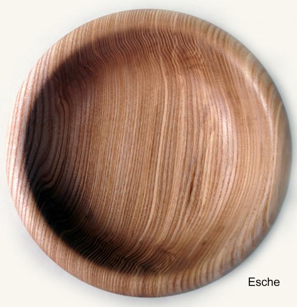 HOLZSCHALE in Tellerform 17 bis 19 cm